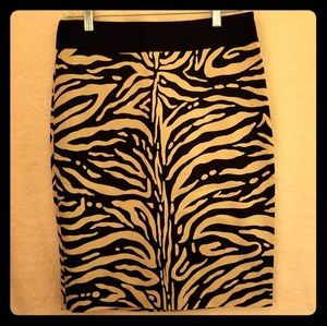 The Limited Zebra Pencil Skirt